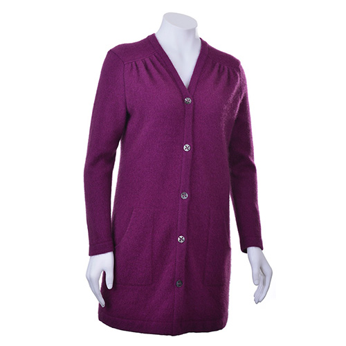 559f6ef709 McDonald Longline Jacket with Lace Up Detail